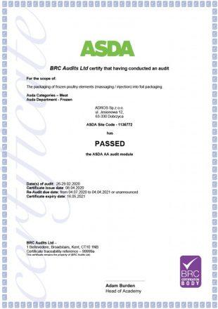Adros-Certyfikat-ASDA